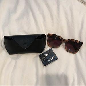 Diff Eyewear Accessories - DIFF Carson tortoise rose gradient sunglasses
